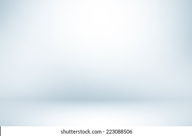 Abstract illustration background texture of beauty dark and light clear blue, cold gray, snowy white gradient flat wall and floor in empty spacious room interior