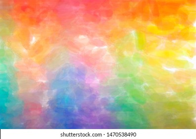Abstract illustration of blue, green, orange, yellow Watercolor background.