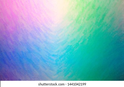 Abstract illustration of blue, green and purple Wax Crayon background.