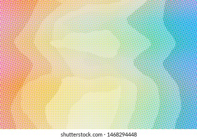Abstract illustration of blue, orange Dots background.