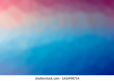 Abstract illustration of blue and red through the tiny glass background.