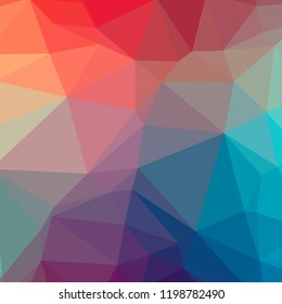 Abstract illustration of blue square low poly background.