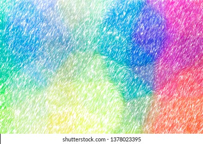 Abstract illustration of blue and yellow Abstract Color Pencil background