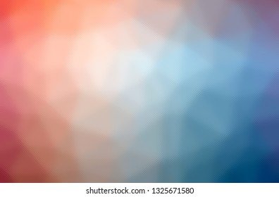 Abstract illustration of blue, yellow and red through the tiny glass background