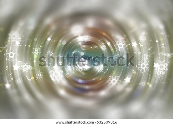 abstract illustration blur multicolored background with defocused bokeh