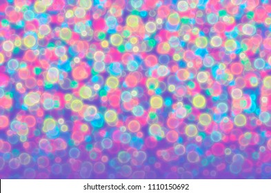 Abstract illustration of blurred colored balls