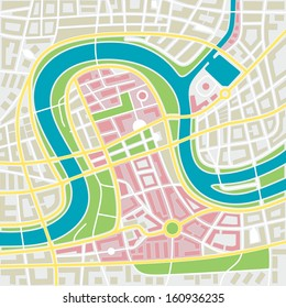 abstract illustration of a city map with details