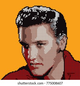 Abstract illustration of The Greatest Elvis Presley