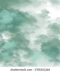 Abstract illustration of green colour