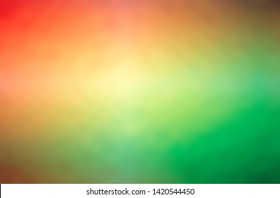 Abstract illustration of green, orange through the tiny glass background.