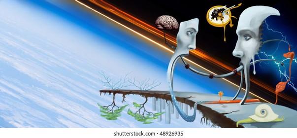 Abstract Illustration and Human Organs