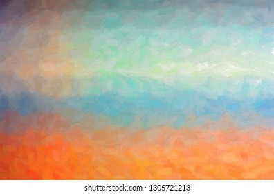 Abstract illustration of orange, blue and grey Abstract watercolor background.