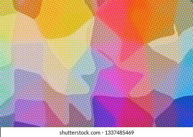 Abstract illustration of orange, purple Dots background