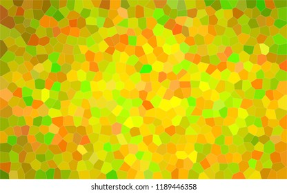 Abstract illustration of peridot  bright Small Hexagon background, digitally generated.