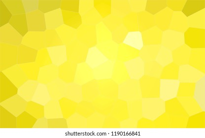 Abstract illustration of peridot colorful Big Hexagon background, digitally generated.