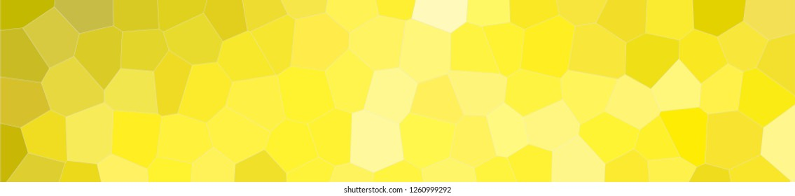 Abstract illustration of peridot  colorful Middle size hexagon banner background, digitally generated.