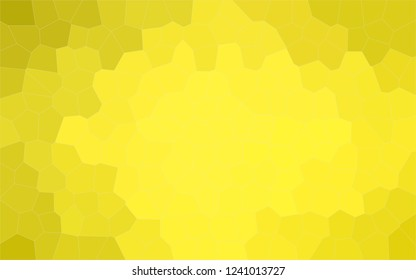 Abstract illustration of peridot Middle size hexagon background, digitally generated.