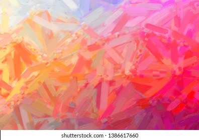 Abstract illustration of red Oil Paint with big brush background