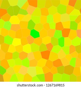 Abstract illustration of Square peridot bright Middle size hexagon background, digitally generated.