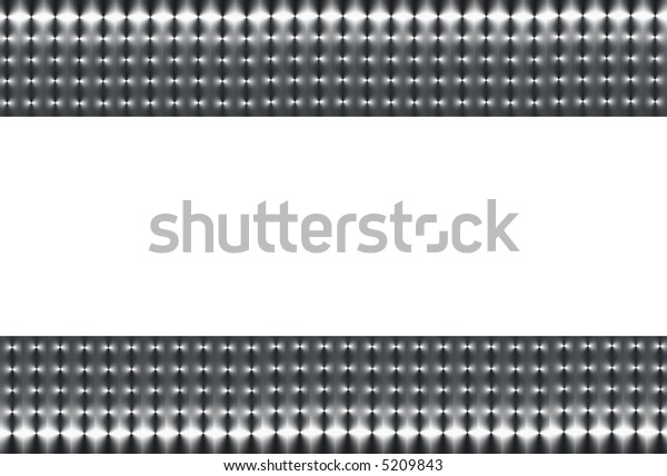 Abstract illustration of two sections of silver grey and black mesh on a horizontal axis with a white  central section.