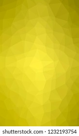 Abstract illustration of Vertical peridot  triangle polygon background, digitally generated.