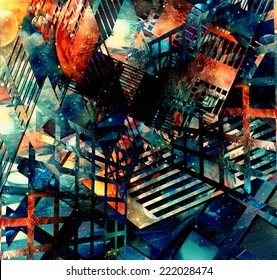abstract illustration. virtual background