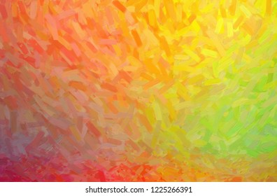 Abstract illustration of yellow, green and red Abstract Oil Painting background.