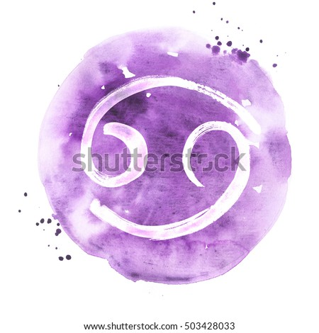 Abstract Illustration Zodiac Sign Cancer Zodiac Stock Illustration