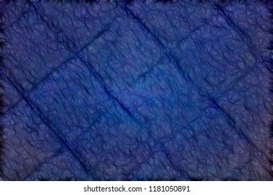 Abstract illustration.Blue textured squares with firmware.