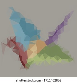 Abstract image in the form of multicolred polygon