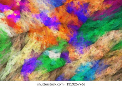 abstract impressionist artwork - brush strokes of oil painting on canvas - colorful abstract texture
