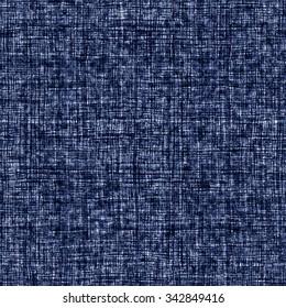 Abstract indigo dyed irregular cross stroke. Seamless pattern.