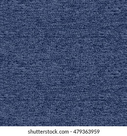 Abstract indigo dyed melange fabric textured background. Seamless pattern.