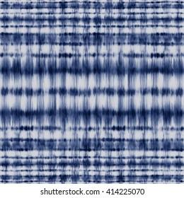 Abstract indigo shibori strokes. Seamless pattern.