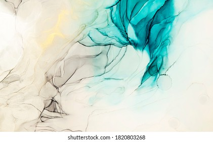 Abstract  ink art drawing background painting