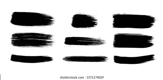 Abstract ink design. Brush collection. Emotional art