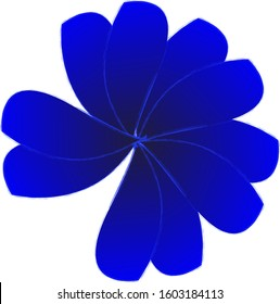 Abstract insolated Blue flower design