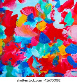 abstract interior painting with flower petals, illustration, wallpaper