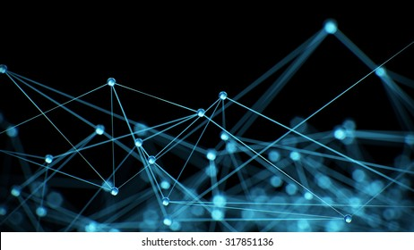 Abstract internet network communication concept background - CG render