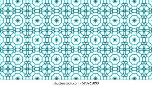Abstract interwoven ornate geometric luxury pattern. Stained-glass window.