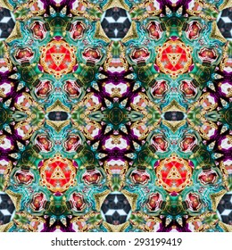 abstract Intricate kaleidoscope seamless pattern background