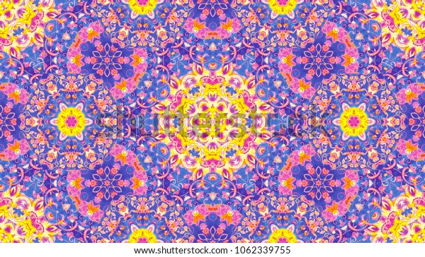 Abstract islamic pattern in arabian style. Seamless background. Hand painted watercolor traditional arabic geometric pattern, east ornament, indian water color painting, persian, batik, boho motif.
