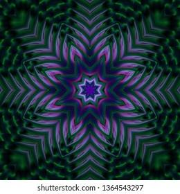 Abstract kaleidoscope background. Beautiful multicolor kaleidoscope