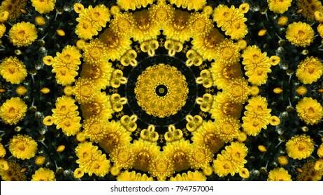 Abstract kaleidoscope background. Beautiful multicolor kaleidoscope texture. Unique kaleidoscope design.