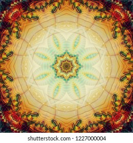 Abstract kaleidoscope color texture. Illustration for design.
