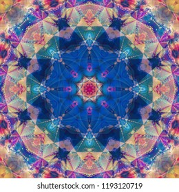 Abstract kaleidoscope colorful background. Fashionable illustration.