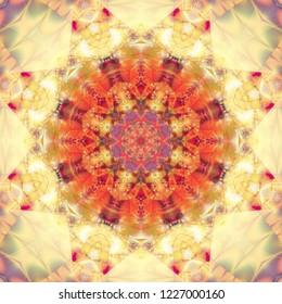 Abstract kaleidoscope colorful background. Fashionable illustration.