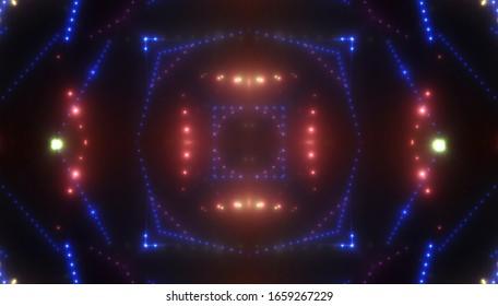 Abstract kaleidoscope dark background. illustration digital.