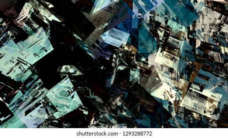 Abstract landscape design city urban futuristic paint pattern material surface modern vintage digital graphic art colorful illustration background