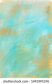 Abstract Landscape Portrait Background Texture Blue Gold